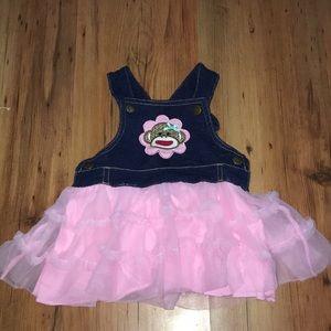 Infant overalls dress